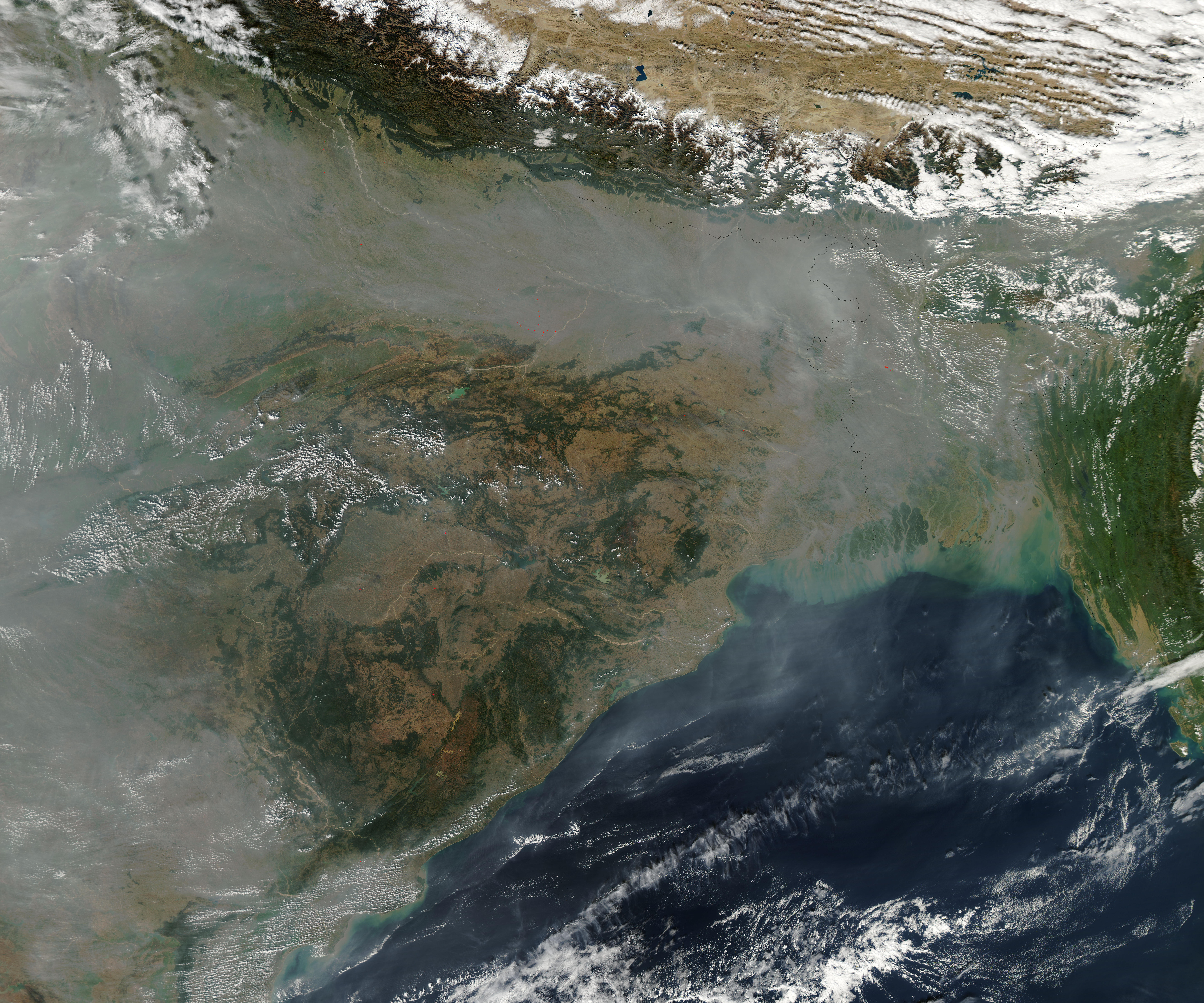 Where the particulates are and arent watts up with that heavy haze hugged the southern face of the himalaya in mid december 2009 thecheapjerseys Choice Image