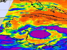 NASA's Aqua satellite's AIRS instrument generated infrared imagery of Matthew on Sept. 24 at 07:05 UTC (3:05 a.m. EDT).
