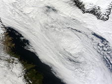 On Sept. 22  the storm was located over the Davis Strait