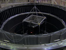 James Webb's ISIM structure being lowered into the cryo-vault