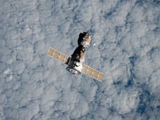 The Soyuz TMA-18 spacecraft departs the International Space Station