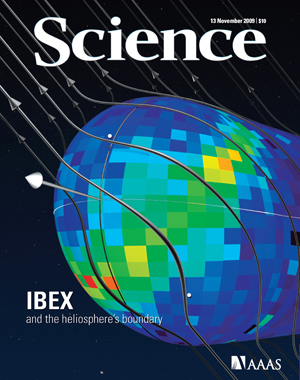 Cover of Science Magazine, 13 November 2009, Vol 326, Issue 5955, AAAS