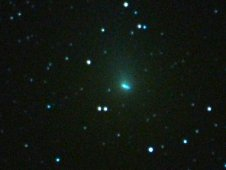 Comet Hartley 2 approaches Earth at a distance of 18 million miles, seen on Sept. 28, 2010.