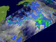 NASA's TRMM satellite captured the rainfall within Nicole on Sept. 28 when she was Tropical Depression 16.