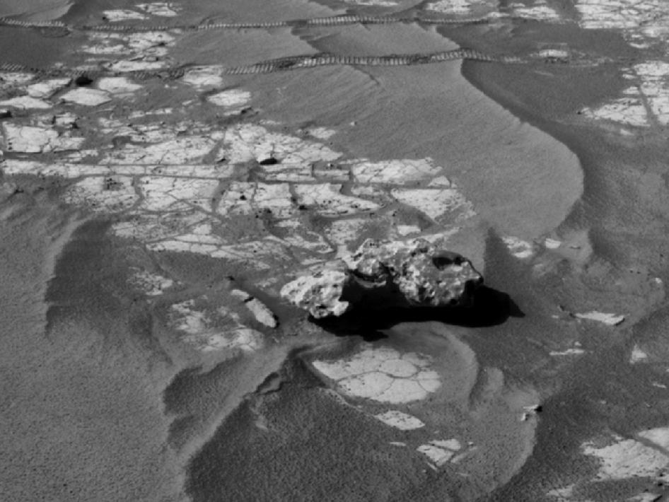Opportunity's close-up view of an iron meteorite