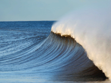 Image of ocean wave with white cap