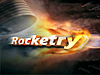 A rocket engine and fire with the word Rocketry
