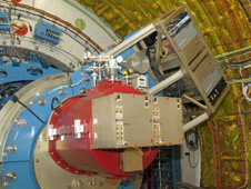 Cornell University's Faint Object Infrared Camera for the SOFIA Telescope, or FORCAST, is shown attached to the SOFIA telescope.