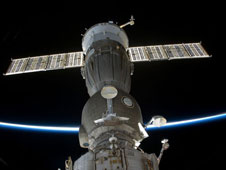 Soyuz docked to International Space Station