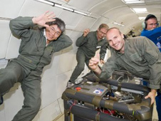image of people in zero-g