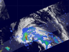 The TRMM satellite passed over TD17 on Oct. 6 at 5 a.m. EDT when it was just classified as a sub-tropical storm.