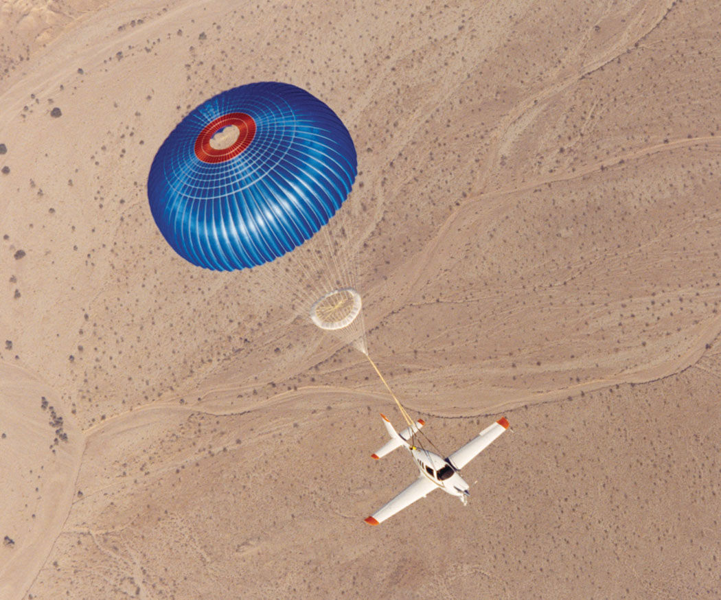 Parachuting plane