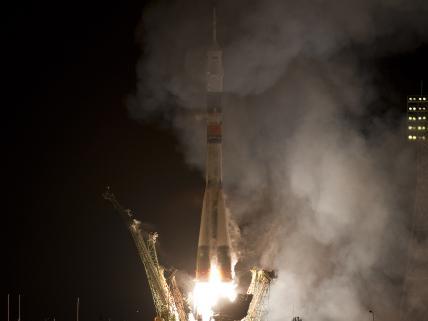 Soyuz Liftoff in Kazakhstan