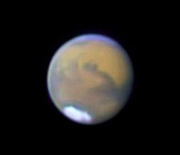 Amateur astronomer Thomas Williamson of New Mexico took this picture of Mars on August 1st.