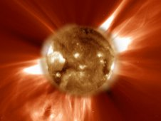 Coronal Mass Ejection, seen by SOHO