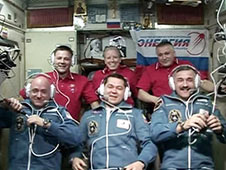 The six-member Expedition 25 crew