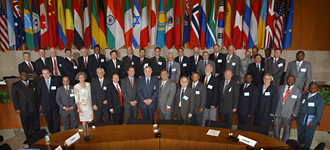 Representatives of more than 30 nations attended the International Earth Summit. Photo Credit: NASA/Bill Ingalls.