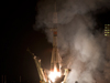 The Soyuz TMA-01M rocket launches