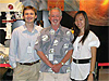 Ann Bui with co-intern Dan Killam and mentor Bill Patzert