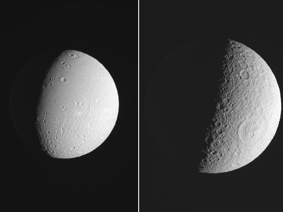 Saturnian moons Dione and Rhea