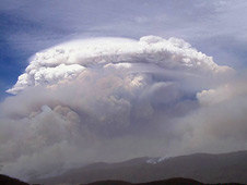 Pyrocumulonimbus storm near Canberra, Australia