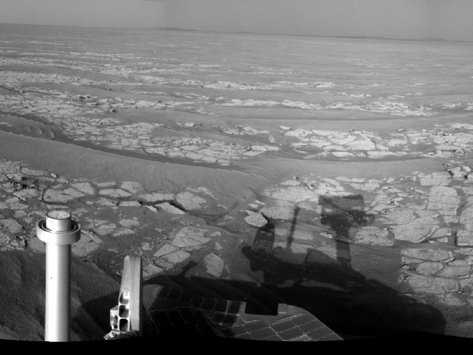 Opportunity's Eastward View After Sol 2382