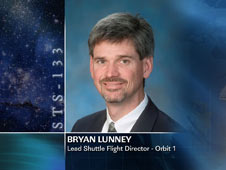 Bryan Lunney, Lead Shuttle Flight Director - Orbit 1