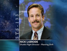 Rick LaBrode, Shuttle Flight Director - Planning Shift