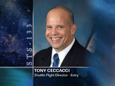 Tony Ceccacci, Shuttle Flight Director - Entry