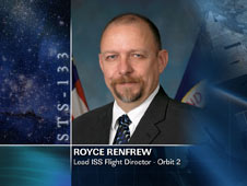 Royce Renfrew, Lead ISS Flight Director - Orbit 2