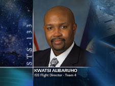 Kwatsi Alibaruho, ISS Flight Director - Team 4
