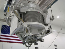 The Alpha Magnetic Spectrometer-2 inside the SSPF.