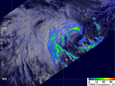 TRMM image of Tropical Storm 1S