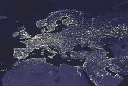 Europe's night time lights