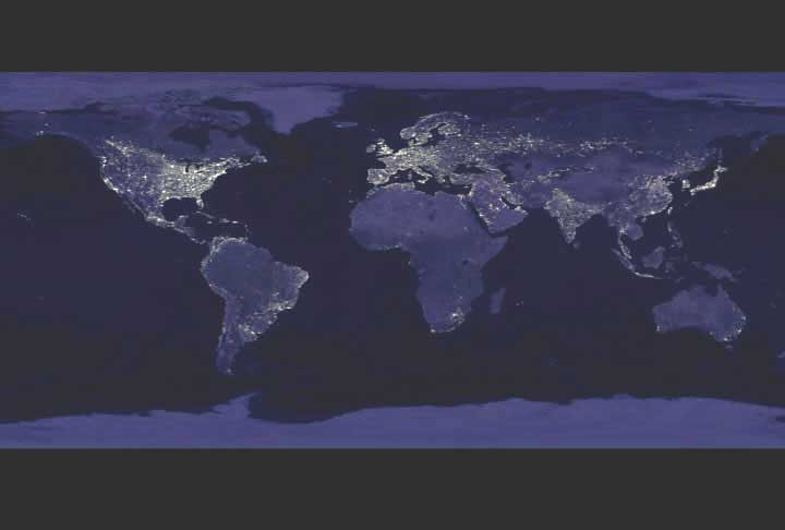 nasa night view of earth - photo #31