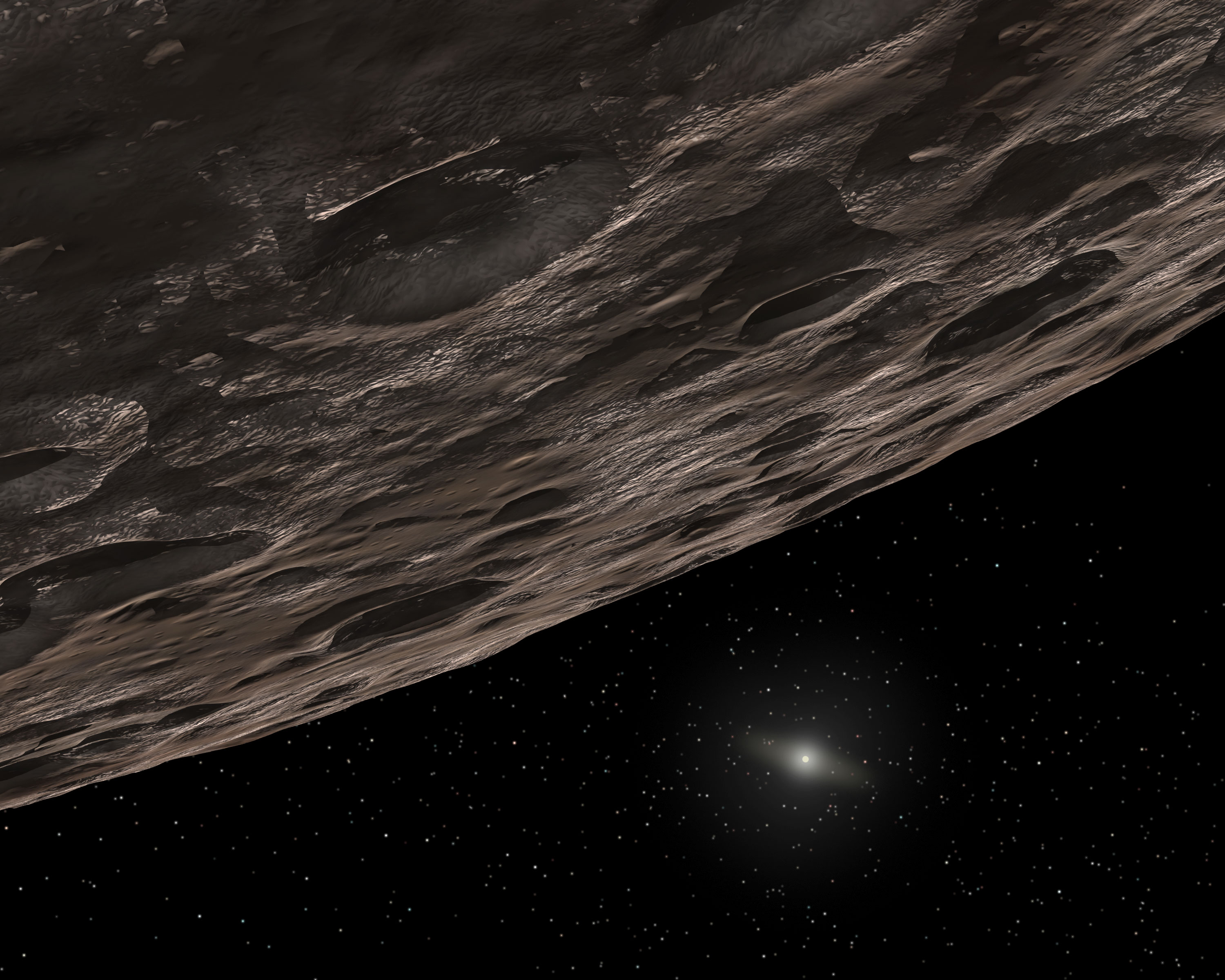 Nasa kuiper belt of many colors artists conception of a kuiper belt object ccuart Choice Image