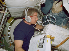 ISS01-330-013 -- Expedition 1 Commander Bill Shepherd