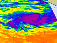 AIRS showed Anggrek's warm waters, as warm as 80 degrees F (the threshold for maintaining tropical cyclones).