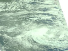 Visible image of Tropical Storm Anggrek was captured by AIRS on Nov. 1 at 0717 UTC
