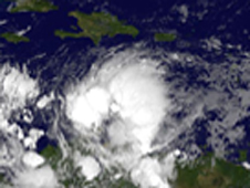 GOES-13 captured a strengthening Tropical Storm Tomas this morning, Nov. 2 at 0845 UTC in infrared imagery.
