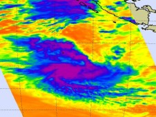 This infrared image of Tropical Storm Anggrek was captured by the AIRS instrument aboard NASA's Aqua satellite on Nov. 3
