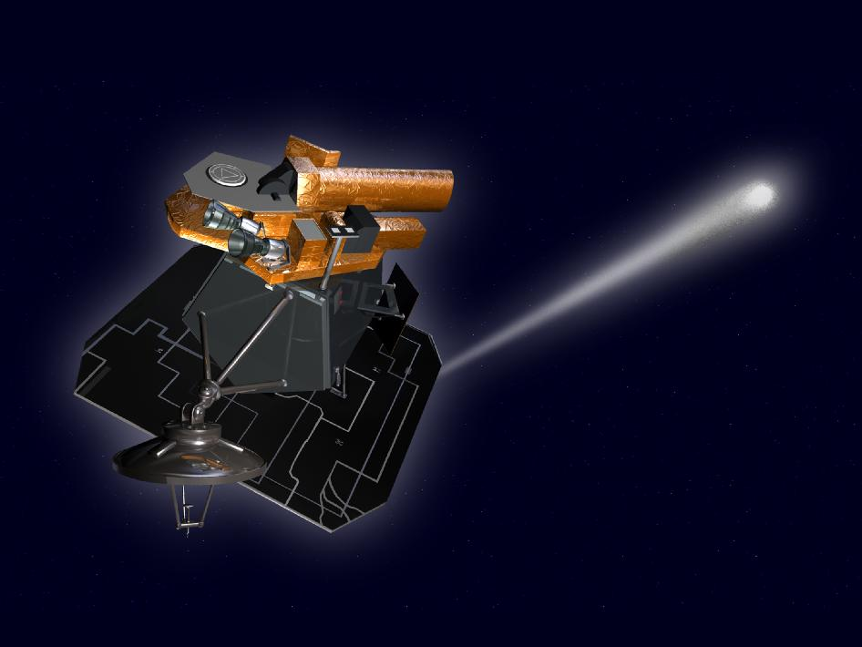 Artist concept of NASA's Deep Impact/EPOXI spacecraft