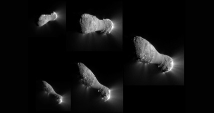 Flyby views of Comet Hartley 2 - Image courtesy of NASA