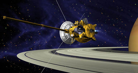Artist's concept of Cassini at Saturn