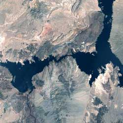 Landsat 7 Satellite Image of Lake Mead May 3, 2000.