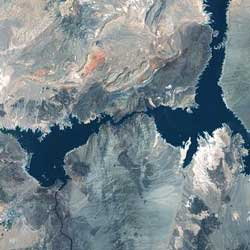 Landsat 7 satellite image of Lake Mead, May 28, 2003