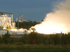 AJ26 engine test at NASA's Stennis Space Center in Mississippi
