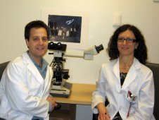 Graduate student Jordan Spatz, left, pictured with Dr. Paola Divieti Pajevic, right.