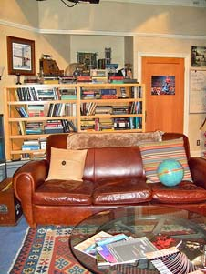 Living room set of Sheldon and Leonard's apartment in The Big Bang Theory.