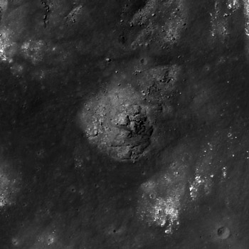 Impact melt material inside of the crater Gassendi A,
